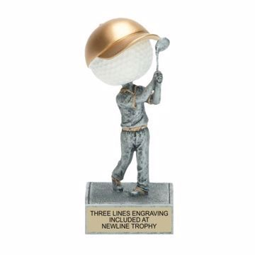 Golf Bobble Head Trophy | Engraving Included