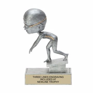 Female Swimmer Bobble Trophy | Engraving Included