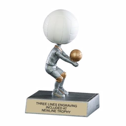 Volleyball Bobble Trophy | Engraving Included