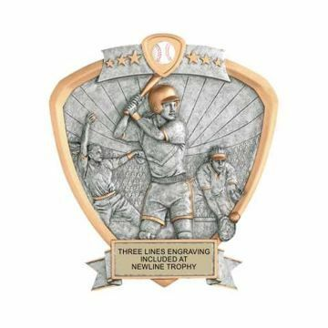 Shield Female Softball Award | Engraving Included