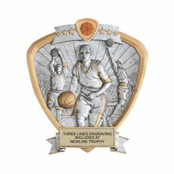 Shield Male Basketball Award | Engraving Included