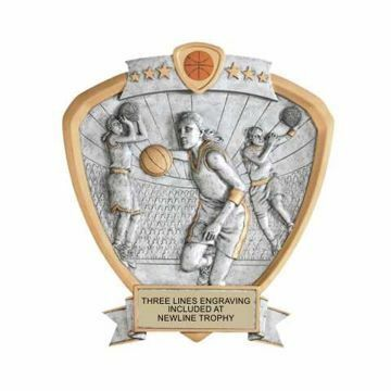 Shield Female Basketball Award | Engraving Included