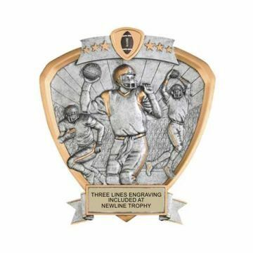 Shield Male Football Award | Engraving Included