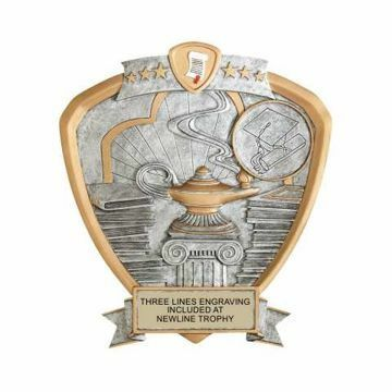 Shield Lamp Of Knowledge Award | Engraving Included