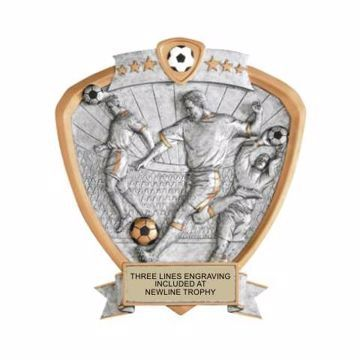 Shield Male Soccer Award | Engraving Included