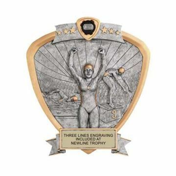 Shield Female Swimming Award | Engraving Included