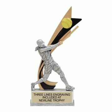 Live Action Resin Female Softball Trophy | Engraving Included