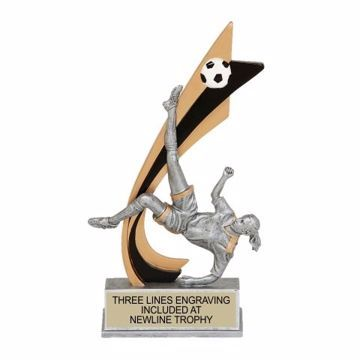 Live Action Resin Female Soccer Trophy | Engraving Included