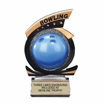 Gold Star Resin Bowling Trophy | Engraving Included