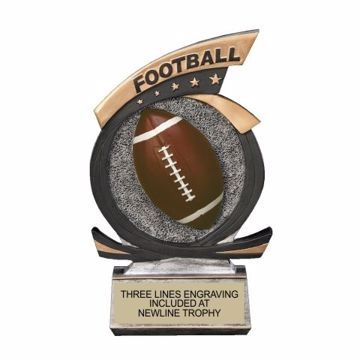Gold Star Resin Football Trophy | Engraving Included