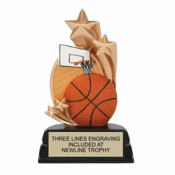 Star Basketball Resin Award | Engraving Included