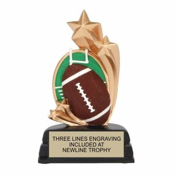 Star Football Resin Award | Engraving Included