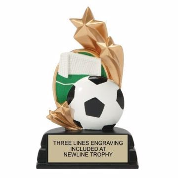Star Soccer Resin Award | Engraving Included