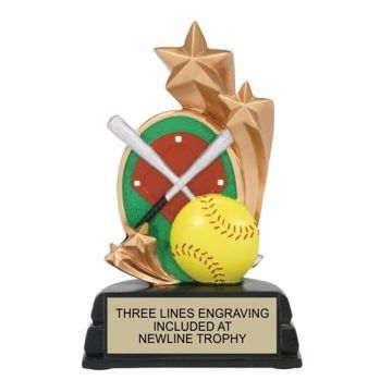 Star Softball Resin Award | Engraving Included