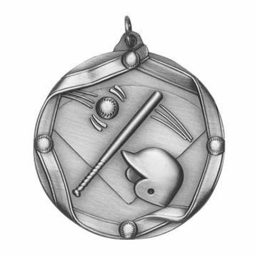 "MS602-S 2 1/4"" Die Cast Baseball Medallion 