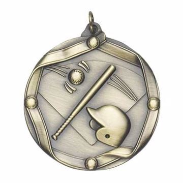 "MS602 2 1/4"" Die Cast Baseball Medallion 