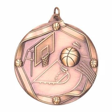 "MS603 2 1/4"" Die Cast Basketball Medallion 