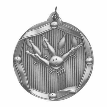 "MS604 2 1/4"" Die Cast Bowling Medallion 