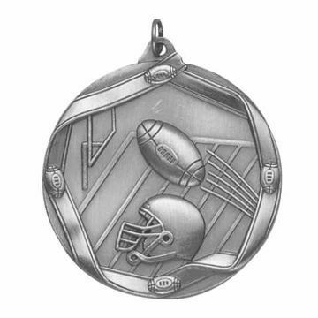 "MS606 2 1/4"" Die Cast Football Medallion 