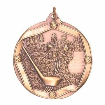 "MS607 2 1/4"" Die Cast Golf Medallion 