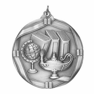 "MS612 2 1/4"" Die Cast Lamp of Knowledge Medallion 