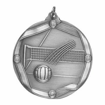 "MS617 2 1/4"" Die Cast Volleyball Medallion 