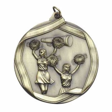 "MS605 2 1/4"" Die Cast Cheerleader Medallion 