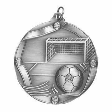 "MS613 2 1/4"" Die Cast Soccer Medallion 