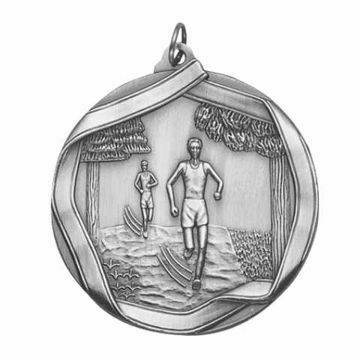"MS655 2 1/4"" Die Cast Cross Country Medallion 