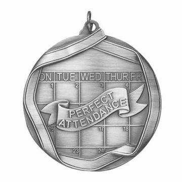 """MS660 2 1/4"""" Die Cast Perfect Attendance Medallion 