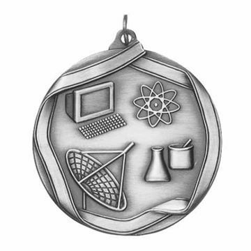 "MS663 2 1/4"" Die Cast Science Medallion 
