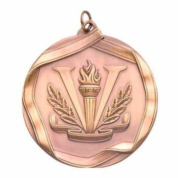 "MS665 2 1/4"" Die Cast Victory Medallion 