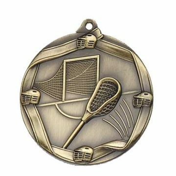 "MS680 2 1/4"" Die Cast Lacrosse Medallion 