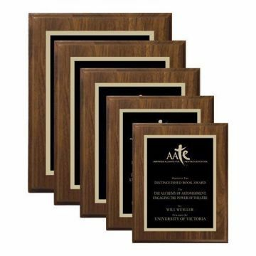 Walnut Traditional Plaque | 5 Sizes Available | Engraving Included
