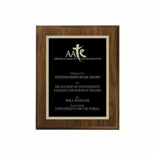 """Walnut Traditional Plaque 7"""" x 9"""" 
