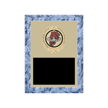 """6"""" x 8"""" Beauty Queen Plaque with gold background plate, colored engraving plate, gold wreath medallion and Beauty Queen insert."""