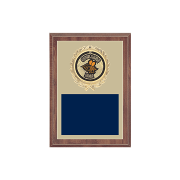 "5"" x 7"" Spelling Bee Plaque with gold background plate, colored engraving plate, gold wreath medallion and Spelling Bee insert."