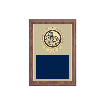 "5"" x 7"" Water Polo Plaque with gold background plate, colored engraving plate, gold wreath medallion and Water Polo insert."