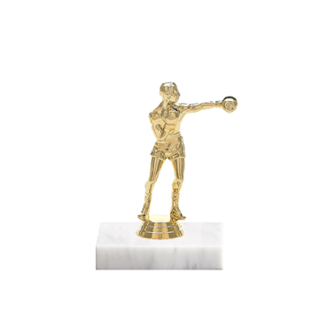 "5"" Boxing Figure on Marble Base Trophy"