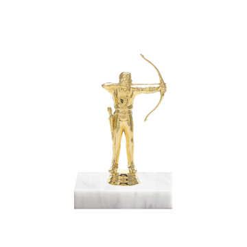 "5"" Archery Figure on Marble Base Trophy"