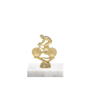 "5"" Cycling Figure on Marble Base Trophy"