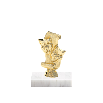 "5"" Drama Figure on Marble Base Trophy"