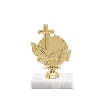 "5"" Religion Figure on Marble Base Trophy"