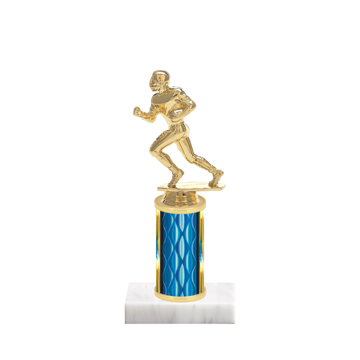 "8"" Football Trophy with Football Figurine, 3"" colored column and marble base."