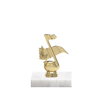 """5"""" Music Figure on Marble Base Trophy"""