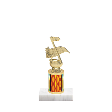 """7"""" Music Trophy with Music Figurine, 2"""" colored column and marble base."""