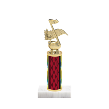 """9"""" Music Trophy with Music Figurine, 4"""" colored column and marble base."""