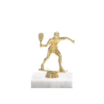 "5"" Racquetball Figure on Marble Base Trophy"