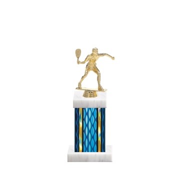 "11"" Racquetball Trophy with Racquetball Figurine, 4"" colored column and marble base."