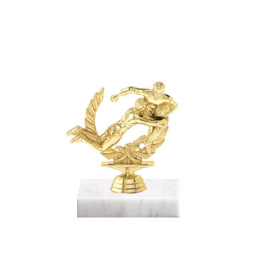 """5"""" Rugby Figure on Marble Base Trophy"""